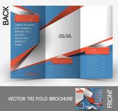 Fitness Center Tri-Fold Mock up & Brochure Design — Stock Vector