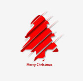Modern Abstract Christmas Tree Design — Stock vektor