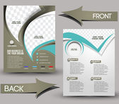 Negocio global front & plantilla folleto posterior — Vector de stock