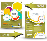 Travel Front & Back Flyer Template — Stock Vector