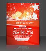 Vector Christmas Flyer Magazine Cover & Poster Template — Vector de stock