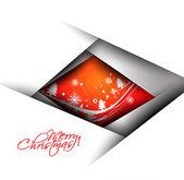 Modern Christmas Tree Background, Vector Illustration — Stock Vector