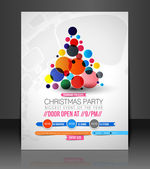 Vector Christmas Flyer Magazine Cover & Poster Template — Stock Vector