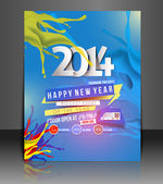 New Year Party Flyer & Poster Cover Template — Stock Vector
