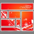 Modern christmas banner — Stock Vector
