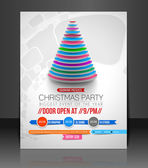 Christmas Party Flyer — Vector de stock