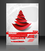 Christmas Party Flyer — Stock vektor