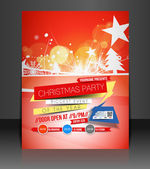 Christmas Party Flyer — Stock Vector