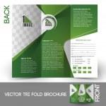 Tri-Fold Golf Tournament Mock up & Brochure Design — Stock Vector