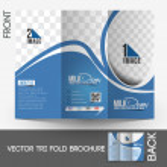 Milk Store Tri-Fold Mock up & Front Brochure Design. — Stock Vector #38747073