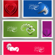 Set of Valentine's Day Hearts — Stock Vector
