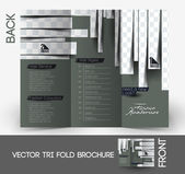 Beauty Care & Salon Tri-Fold Mock up & Brochure Design. — Stock Vector
