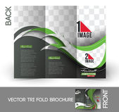 Football Competition Mock up & Tri-Fold Brochure Design. — Stock Vector