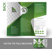 Tri-Fold Golf Tournament Mock up & Brochure Design — Wektor stockowy