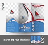Automobile Center Tri-Fold Mock up & Brochure Design — Stock Vector