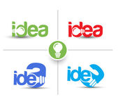 Set Of Idea Web Icon Design Element. — Stok Vektör