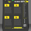 The Movie Month Front Flyer Template — Stok Vektör