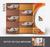 Pizza winkel tri-fold bespotten omhoog & brochure ontwerpen — Stockvector