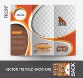 Pizza Shop Tri-Fold Mock up & Brochure Design — Stock Vector
