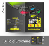 The Movie Month Bi-Fold Brochure Design — Stock Vector