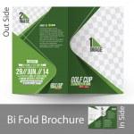 Bi-Fold Golf Tournament Mock up & Brochure Design — Stock Vector #42444357