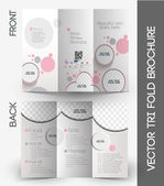 Beauty Care & Salon Tri-Fold Mock up & Brochure Design — Stock Vector