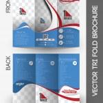 Automobile Center Tri-Fold Brochure — Stock Vector