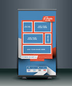 Fitness Center Roll Up Banner — Stockvektor