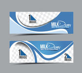 Milk Dairy Banner — Stock Vector