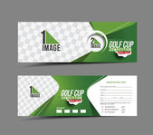 Golf Cup Banner — Stock Vector