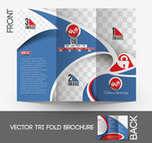 Home Security Center Brochure — Stock Vector