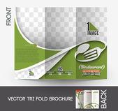 Restaurant & Hotel Tri-Fold Brochure — Stock Vector