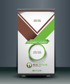 Real Estate Roll Up Banner Design — Stock Vector