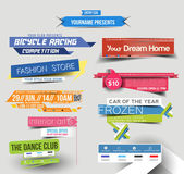 Sale Discount Web Banner — Stock Vector