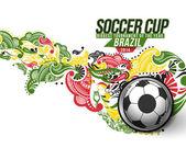 Футбольные события плакат графика — Cтоковый вектор