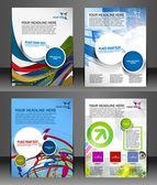Set van presentatie van flyer ontwerp inhoud achtergrond. — Stockvector