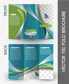 Architecture & Interior Designer Tri-Fold Mock up & Brochure Design — Stock Vector