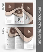 Beauty Care & Salon Tri-Fold Mock up & Brochure Design — Stock Vector