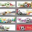 Set of Football Event Banner Header Ad Template Design. — Stock Vector #47398971