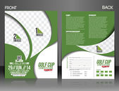 Golf Tournament Front & Back Flyer Template — Stock Vector