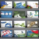 Mega Collection Business Card Template Design. — Stock Vector #47740941