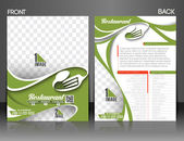 Restaurant & Hotel Flyer — Vector de stock