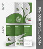 Golf Tournament Tri-Fold Brochure — Stock Vector