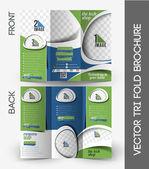 The Tech Shop Tri-Fold Brochure — Stock Vector
