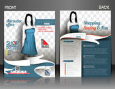 Shopping Center Store Flyer — Vector de stock