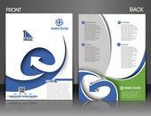 Global Business Flyer Design — Stock Vector