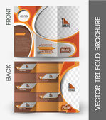 Pizza Shop Tri-Fold Brochure — Stock Vector