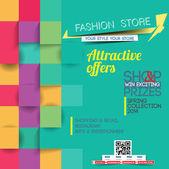 плакат мода — Cтоковый вектор