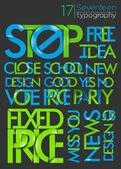 Alfabet tekst projektu — Wektor stockowy