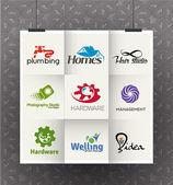 Corporate Symbol Design Template — Vector de stock